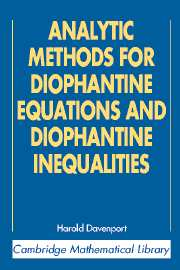 Analytic Methods for Diophantine Equations and Diophantine Inequalities