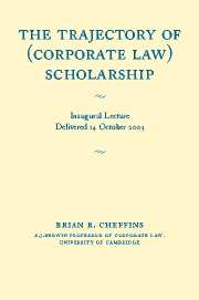 The Trajectory of (Corporate Law) Scholarship