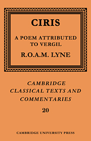 Ciris: A Poem Attributed to Vergil