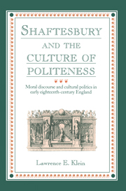 Shaftesbury and the Culture of Politeness