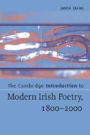 The Cambridge Introduction to Modern Irish Poetry, 1800–2000