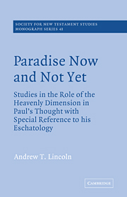 Paradise Now and Not Yet