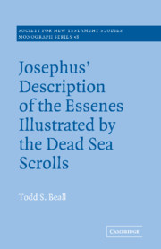 Josephus' Description of the Essenes Illustrated by the Dead Sea Scrolls