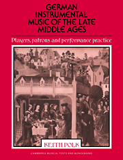 German Instrumental Music of the Late Middle Ages