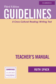 Guidelines Teacher's Manual