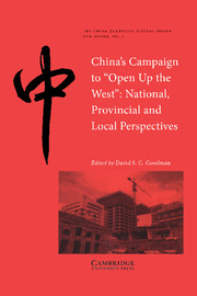 China's Campaign to 'Open up the West'