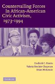 Countervailing Forces in African-American Civic Activism, 1973–1994