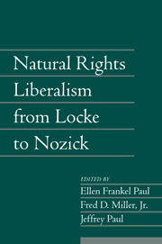 Natural Rights Liberalism from Locke to Nozick