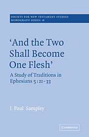 'And The Two Shall Become One Flesh'