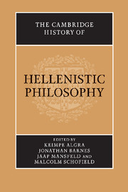 The Cambridge History of Hellenistic Philosophy