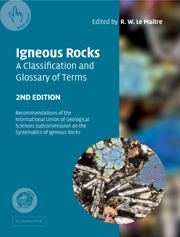 Igneous Rocks: A Classification and Glossary of Terms