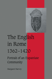 The English in Rome, 1362–1420