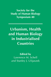 Urbanism, Health and Human Biology in Industrialised Countries