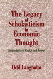 The Legacy of Scholasticism in Economic Thought