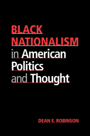 Black Nationalism in American Politics and Thought