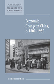 Economic Change in China, c.1800–1950