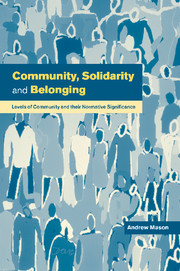 Community, Solidarity and Belonging