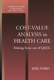 Cost-Value Analysis in Health Care