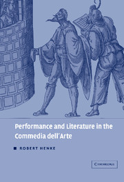 Performance and Literature in the Commedia dell'Arte