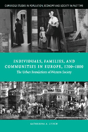 Individuals, Families, and Communities in Europe, 1200–1800