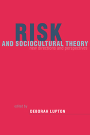 Risk and Sociocultural Theory