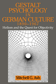 Gestalt Psychology in German Culture, 1890–1967