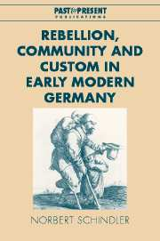 Rebellion, Community and Custom in Early Modern Germany