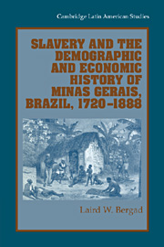 Slavery and the Demographic and Economic History of Minas Gerais, Brazil, 1720–1888