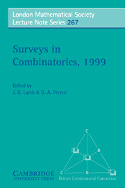 Surveys in Combinatorics, 1999