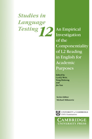 An Empirical Investigation of the Componentiality of L2 Reading in English for Academic Purposes
