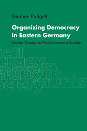 Organizing Democracy in Eastern Germany