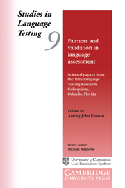 Fairness and Validation in Language Assessment