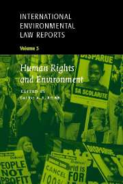 International Environmental Law Reports