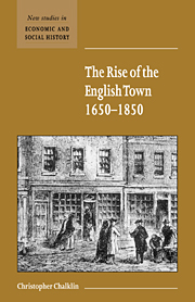 The Rise of the English Town, 1650–1850