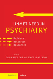 Unmet Need in Psychiatry