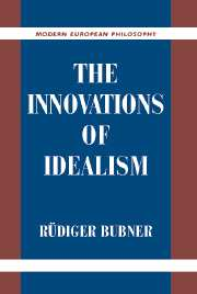 The Innovations of Idealism