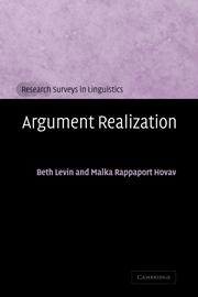 Argument Realization