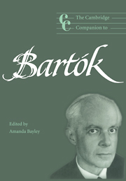 The Cambridge Companion to Bartók