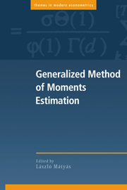 Generalized Method of Moments Estimation