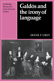 Galdós and the Irony of Language
