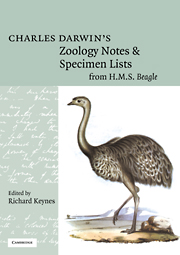 Charles Darwin's Zoology Notes and Specimen Lists from H. M. S. Beagle