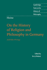 Heine: 'On the History of Religion and Philosophy in Germany'