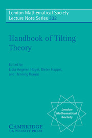 Handbook of Tilting Theory