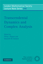 Transcendental Dynamics and Complex Analysis