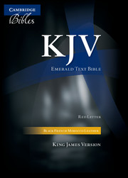 KJV Emerald Text Bible, Black French Morocco Leather, KJ533:TR