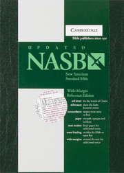 NASB Wide Margin Reference Bible, Red-letter Text, NS741:XRM