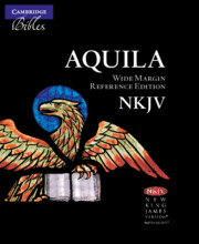 NKJV Wide Margin Reference Bible, Black Edge-Lined Goatskin Leather, Red Letter Text NK746:XRME