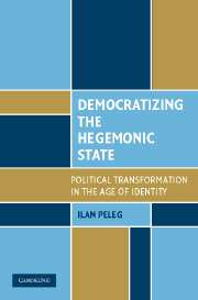 image: book jacket for Democratizing the Hegemonic State