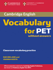 Cambridge Vocabulary for PET