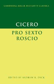 Cicero: 'Pro Sexto Roscio'